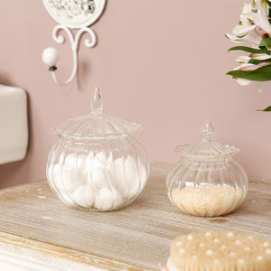 Le Pavillon Parisian Glass Storage Jars - tins, jars & bottles