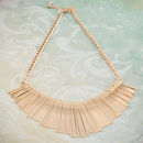 Statement Embossed Fan Necklace