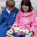 Personalised Childrens Hooded Bathrobe