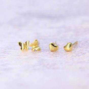 Gold Plated Tiny Earrings