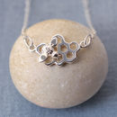 Lily Charmed Silver Honeycomb Necklace