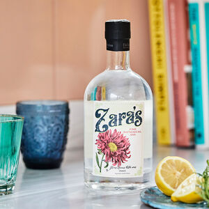 Personalised Birth Flower Botanical Gin