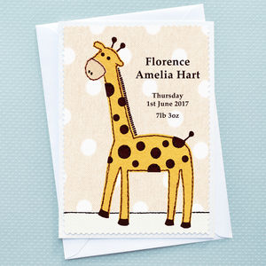 'Baby Giraffe' New Baby Card