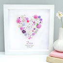 Personalised Birthday Milestone Button Heart Gift