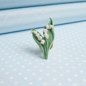 Lily Of The Valley Lapel Pin - pins & brooches