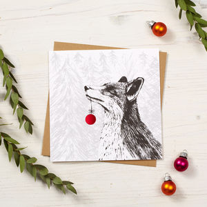Fox Christmas Card - cards & wrap