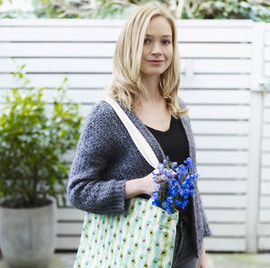 Colourful Peacock Feather Tote Bag - foldaway bags