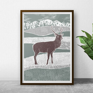 Stag And Wilderness Art Print