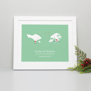 'Home And Abroad' Personalised Print - treasured locations & memories