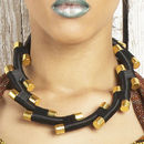Jaggered Statement Single Necklace