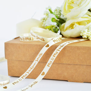 Wedding 10mm Personalised Printed Ribbon - wedding favours