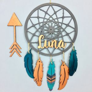 Personalised Dream Catcher Customisable Wall Hanging - children's room