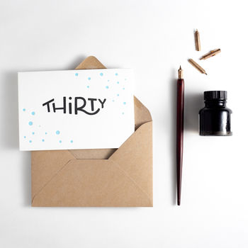 'Thirty' Dots Birthday Card