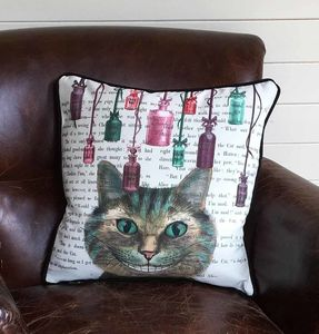 Cheshire Cat Alice In Wonderland Cushion - bedroom