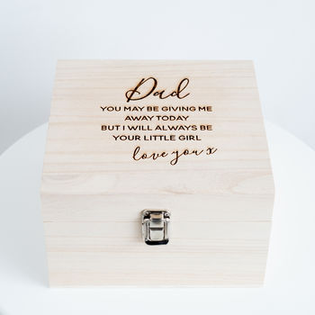 Dad / Daddy 'Wedding' Keepsake Box