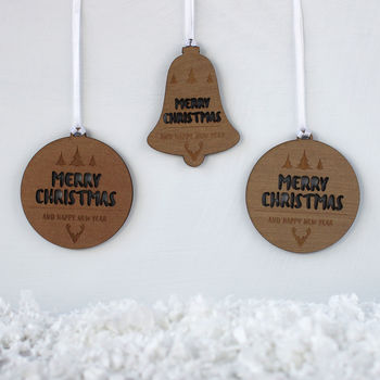 Christmas Tree Decorations, Merry Christmas Cutout
