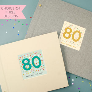 Personalised 80th Birthday Photo Album - albums & guest books