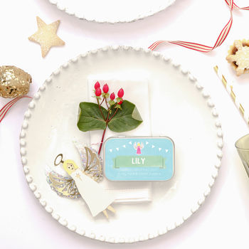 Personalised Angel Place Setting Alternative Cracker