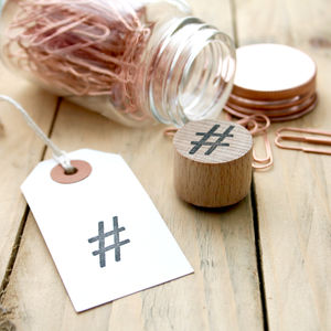 Hashtag # Social Media Rubber Stamp - whatsnew