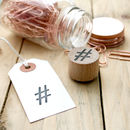 Rubber Stamp Hashtag # Social Media