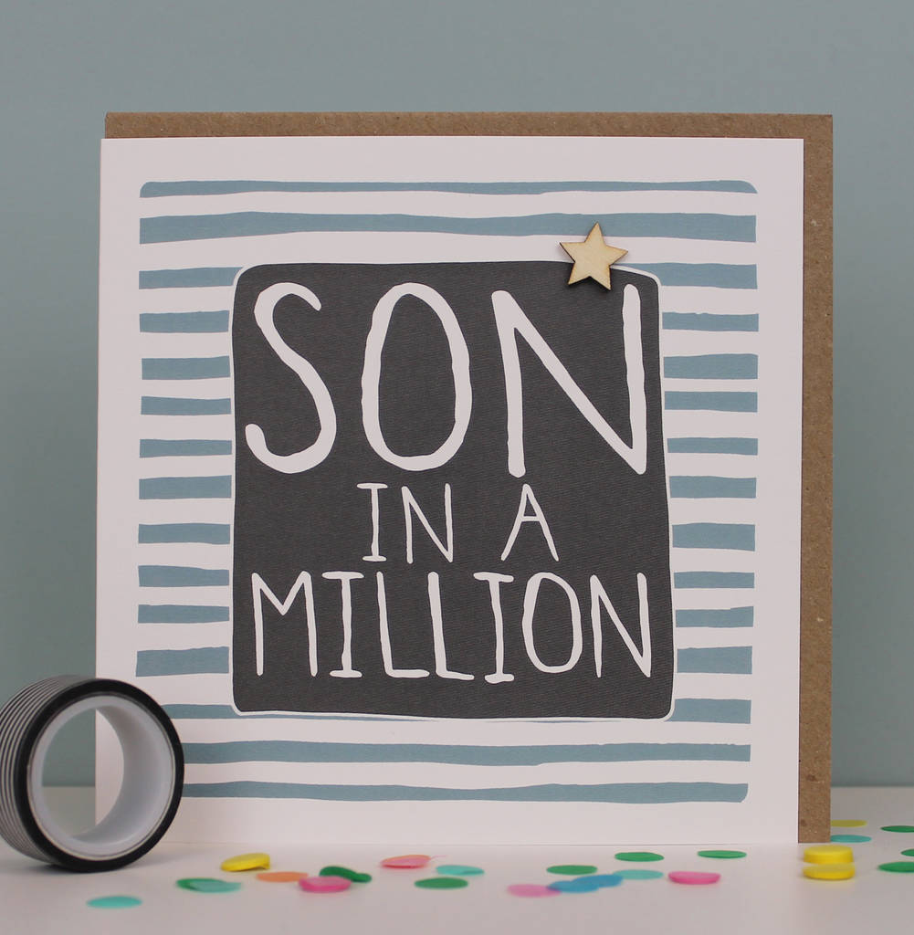 Son Birthday Greetings Card