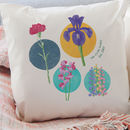 Birth Flowers Custom Family Cushion