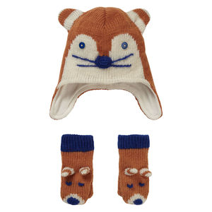 Fox Hat And Mitten Set - hats, scarves & gloves