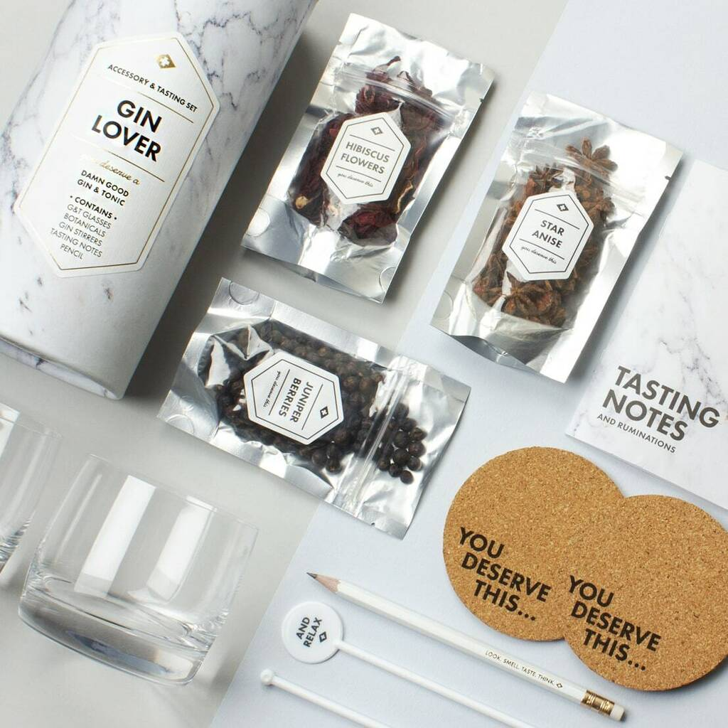 Gin Lover Tasting And Accessory Gift Set by Atlantic Folk