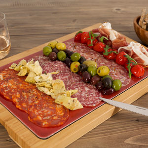Red Glazed Lava Platter Red For Perfect Food Serve - kitchen accessories