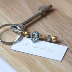 'I'm Nuts About You' Keyring - keyrings