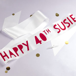 Personalised Papercut Style Birthday Sash