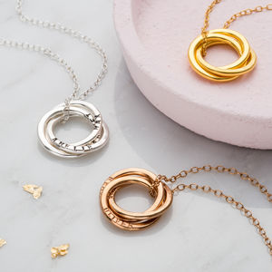 Personalised Russian Ring Necklace - best gifts for mothers