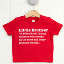 Little Brother Definition T Shirt