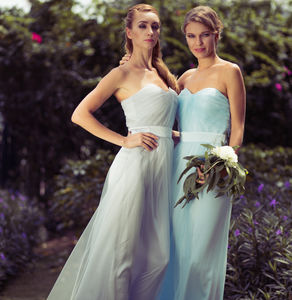 Melody Tulle Full Length Bridesmaid Dress - bridesmaid dresses