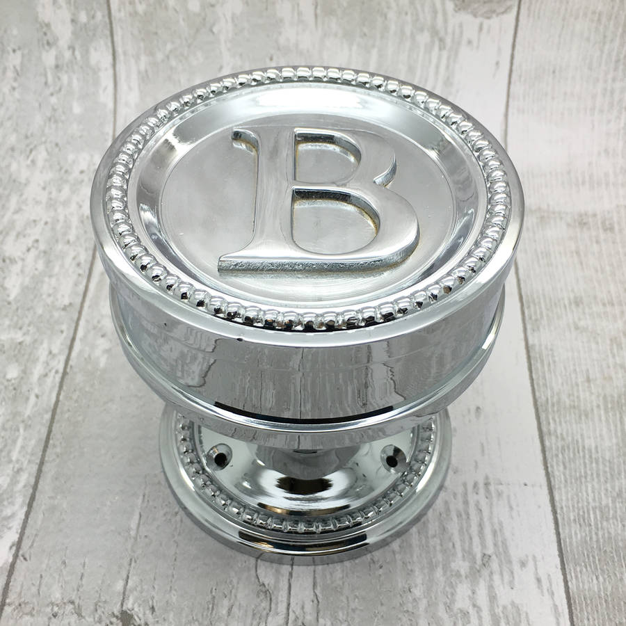 b letter centre door knob solid brass by g decor ...