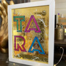 Personalised Letter Gold And Glass Sign