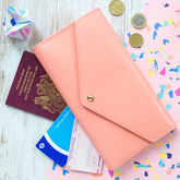 Personalised Leather Travel Wallet - summer shop