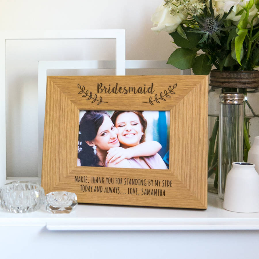 Personalised Bridesmaid Thank You Photo Frame By Dust And Things