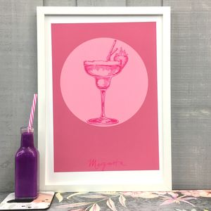 Margarita Cocktail Giclée Fine Art Print - food & drink prints