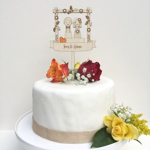 Personalised Autumn/Fall Wedding Topper - cake toppers & decorations