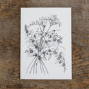 Freesia And Orange Blossom Greetings Card
