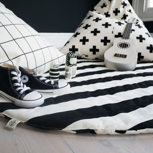 Monochrome Print Play Mat - children's room accessories