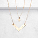 Personalised Diamond And Chevron Necklace Set