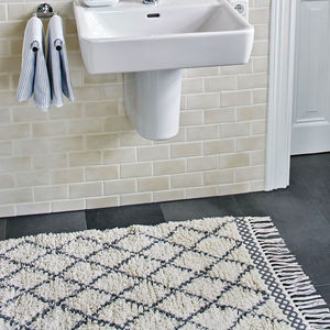 Shaggy Rug In Two Size Options - bathroom