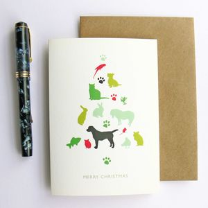 Pets Christmas Card - cards
