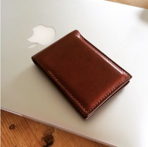 Personalised Slim Leather Card Case Holder - wallets