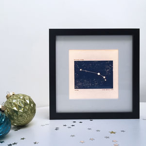 Personalised Aries Constellation Light Box