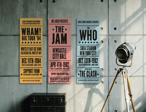 Personalised Vintage Style Concert Sign - rock star