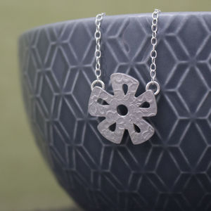 Sterling Silver Watercolour Baby Daisy Necklace
