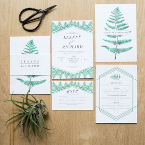 Botanical Wedding Invitation - invitations